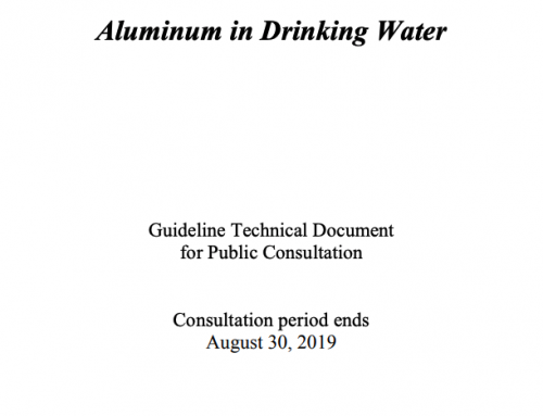 Public consultation on aluminum in drinking water
