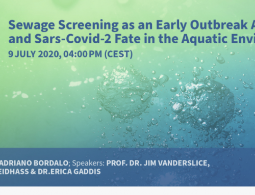 MDPI Webinar- Sewage Screening as an Early Outbreak Alert Tool and SARS-Covid-2 Fate in the Aquatic Environment