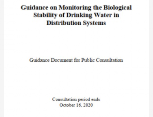 Consultation: Guidance on Monitoring the Biological Stability of Drinking Water in Distribution Systems