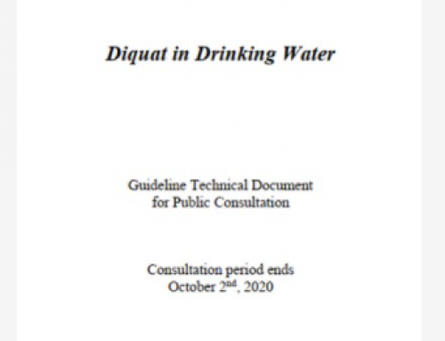 Health Canada drinking water guidelines and guidance documents