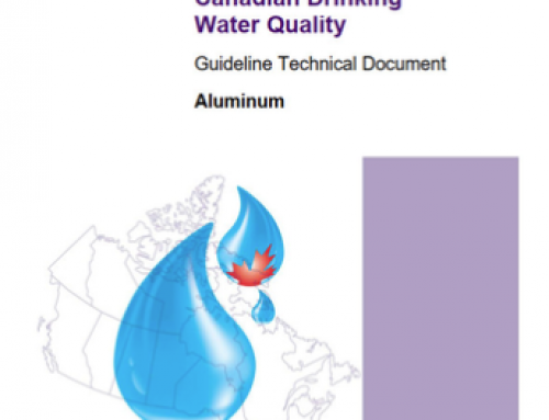 Guidelines for Canadian Drinking Water Quality: Guideline Technical Document – Aluminum