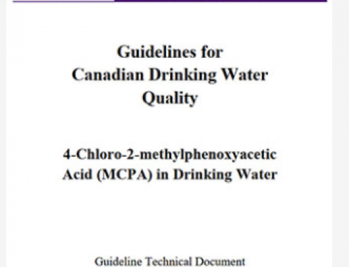 4-Chloro-2-methylphenoxyacetic Acid (MCPA) in Drinking Water: Guideline Technical Document for Public Consultation