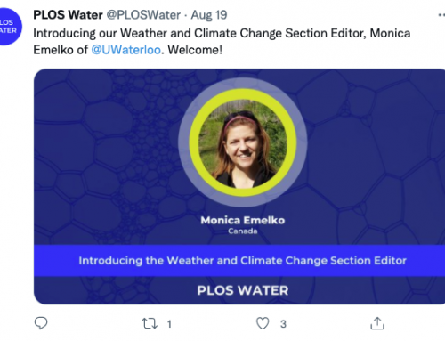 Monica Emelko named Weather and Climate Change section editor at PLOS Water