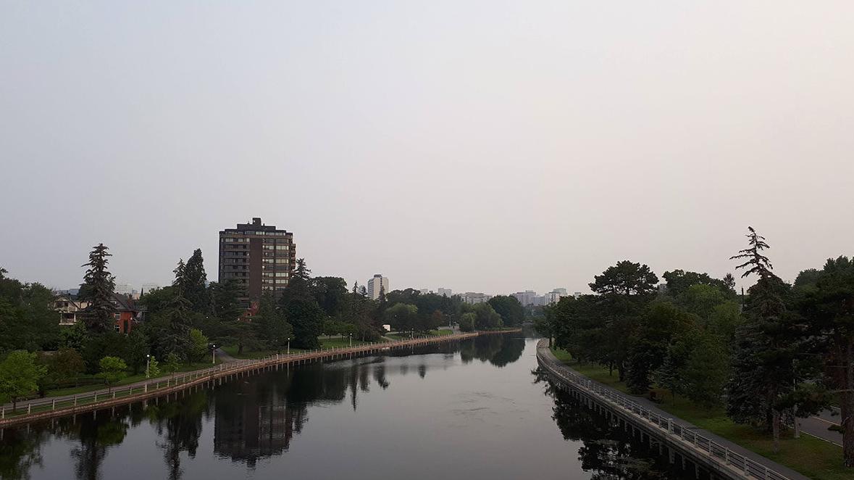 Smoky skies over Ottawa